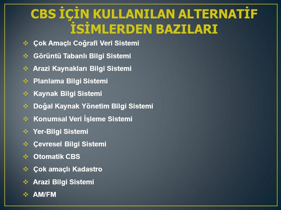 CBS İÇİN KULLANILAN ALTERNATİF İSİMLERDEN BAZILARI