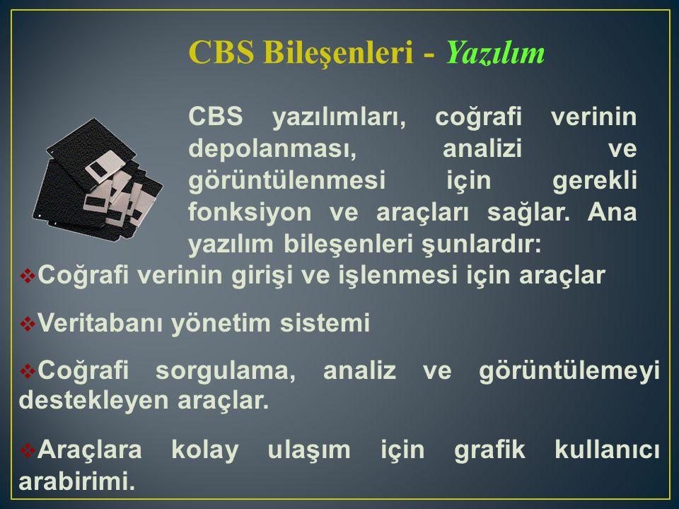 CBS Bileşenleri - Yazılım