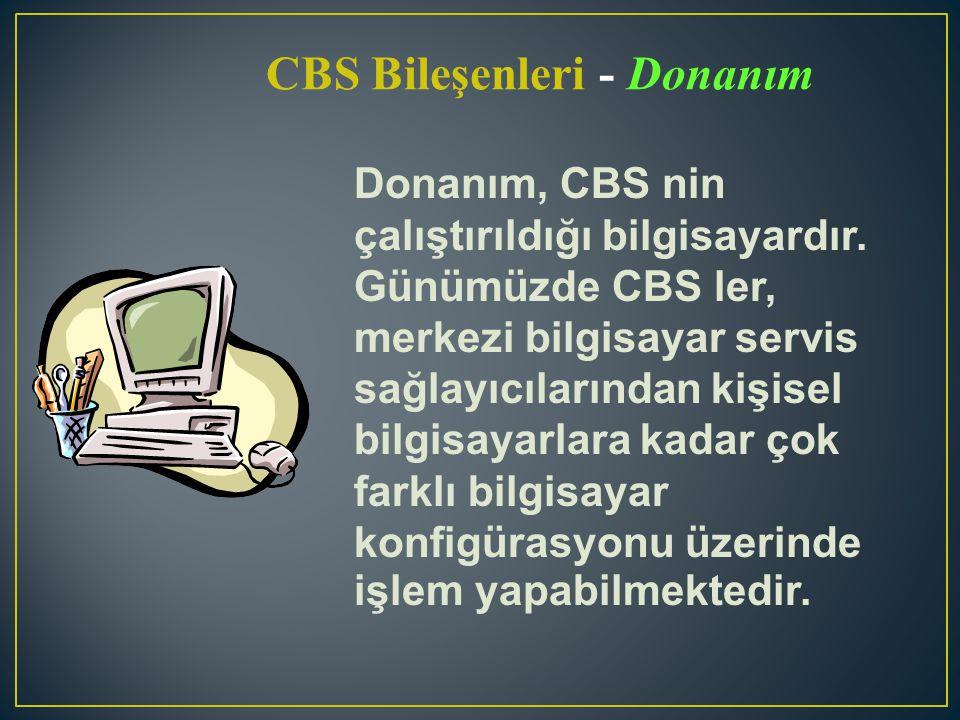 CBS Bileşenleri - Donanım