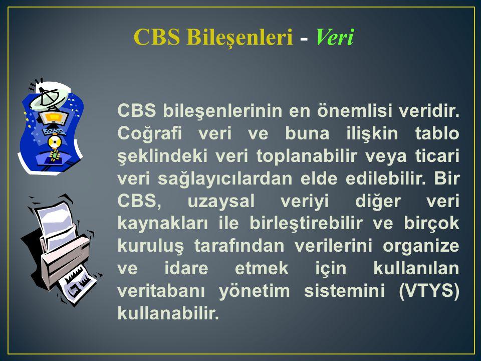 CBS Bileşenleri - Veri