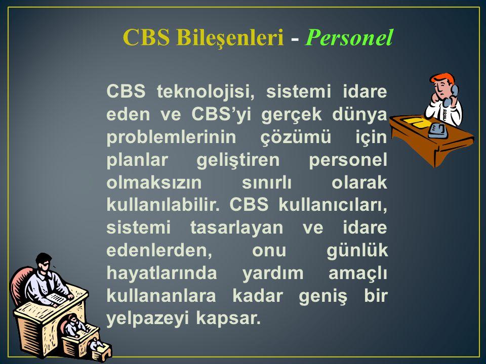 CBS Bileşenleri - Personel