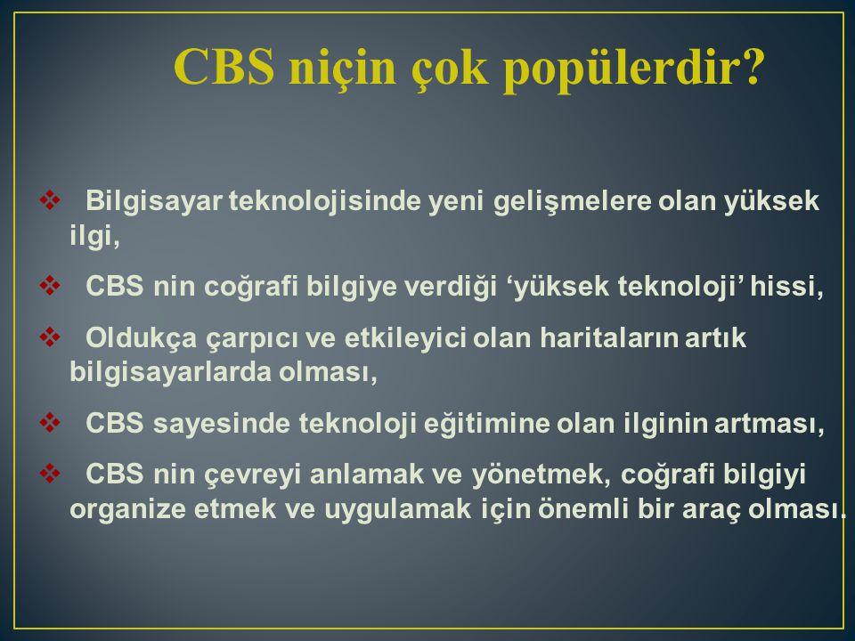 CBS niçin çok popülerdir