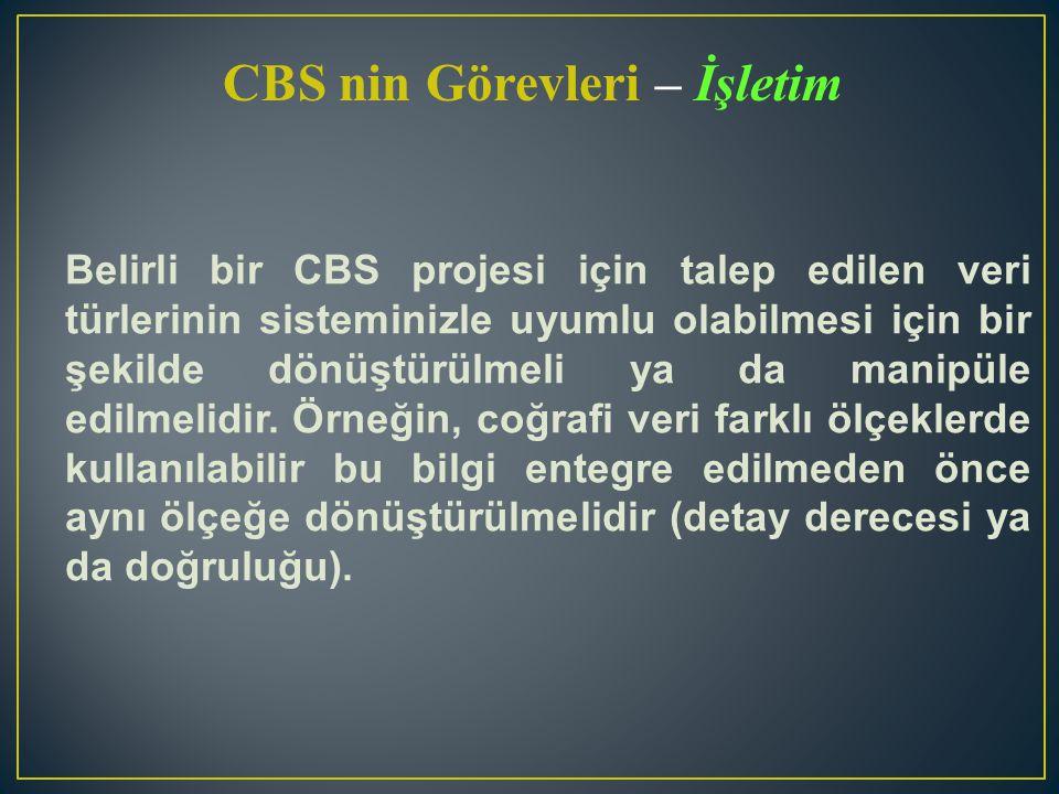CBS nin Görevleri – İşletim