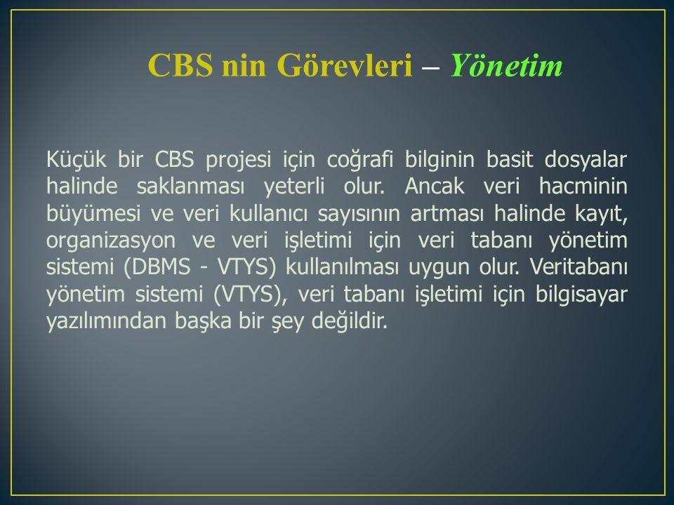 CBS nin Görevleri – Yönetim