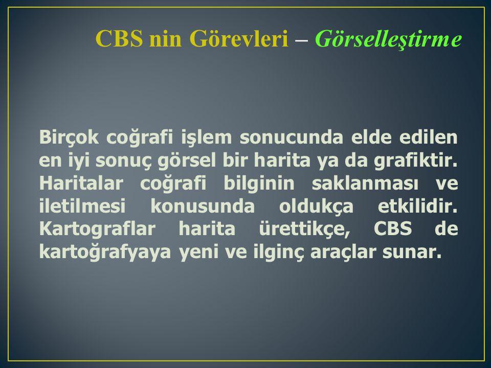 CBS nin Görevleri – Görselleştirme