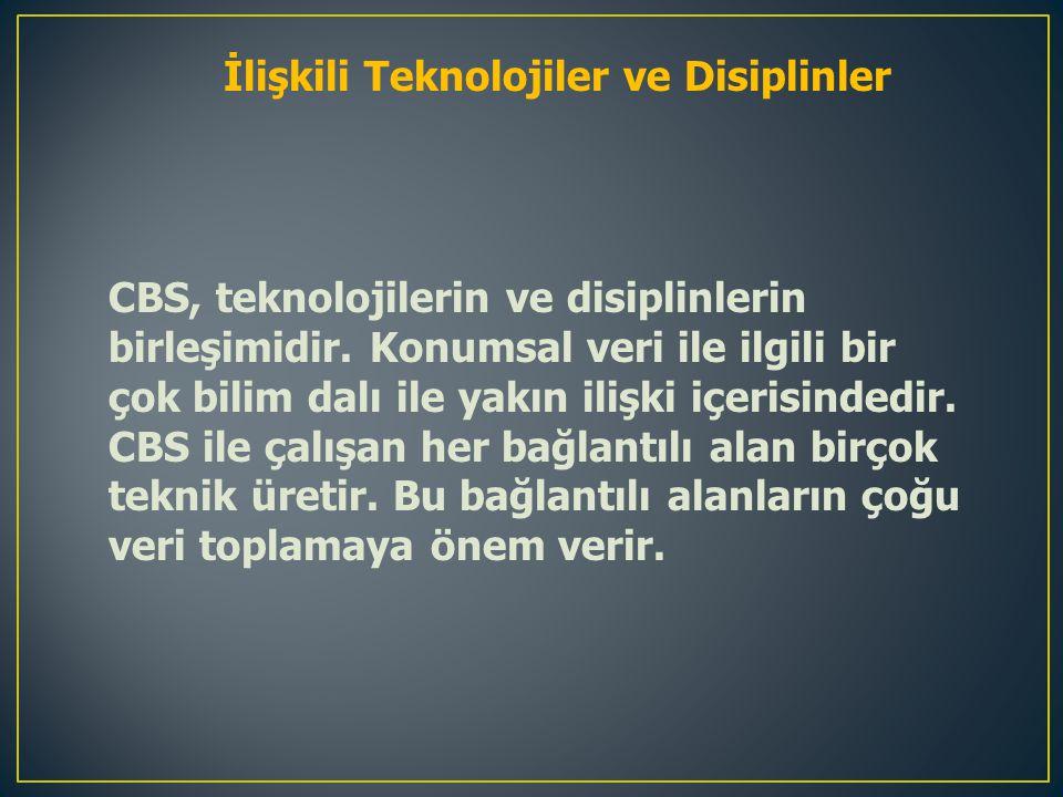 İlişkili Teknolojiler ve Disiplinler