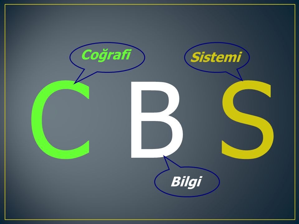 Coğrafi Sistemi C B S Bilgi