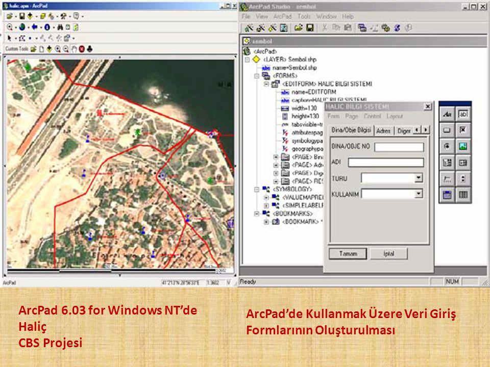ArcPad 6.03 for Windows NT'de Haliç