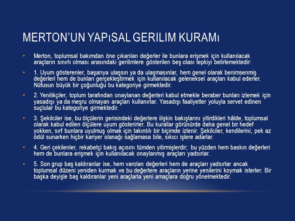 Merton'un yapısal gerilim kuramı