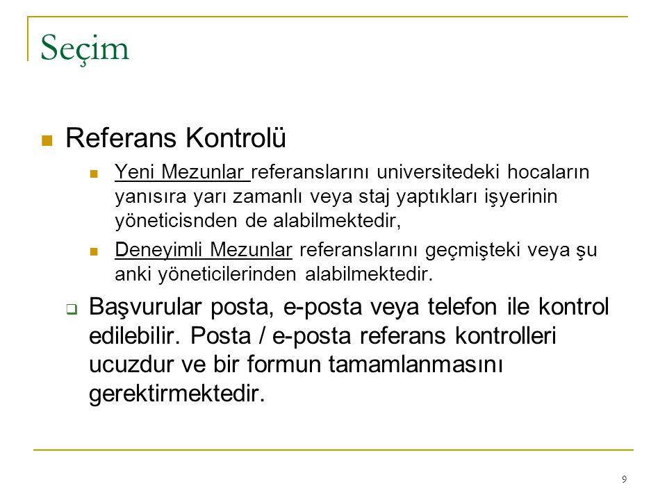 Seçim Referans Kontrolü