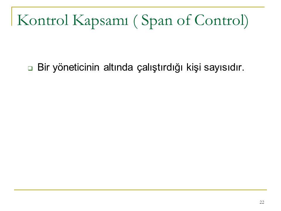Kontrol Kapsamı ( Span of Control)