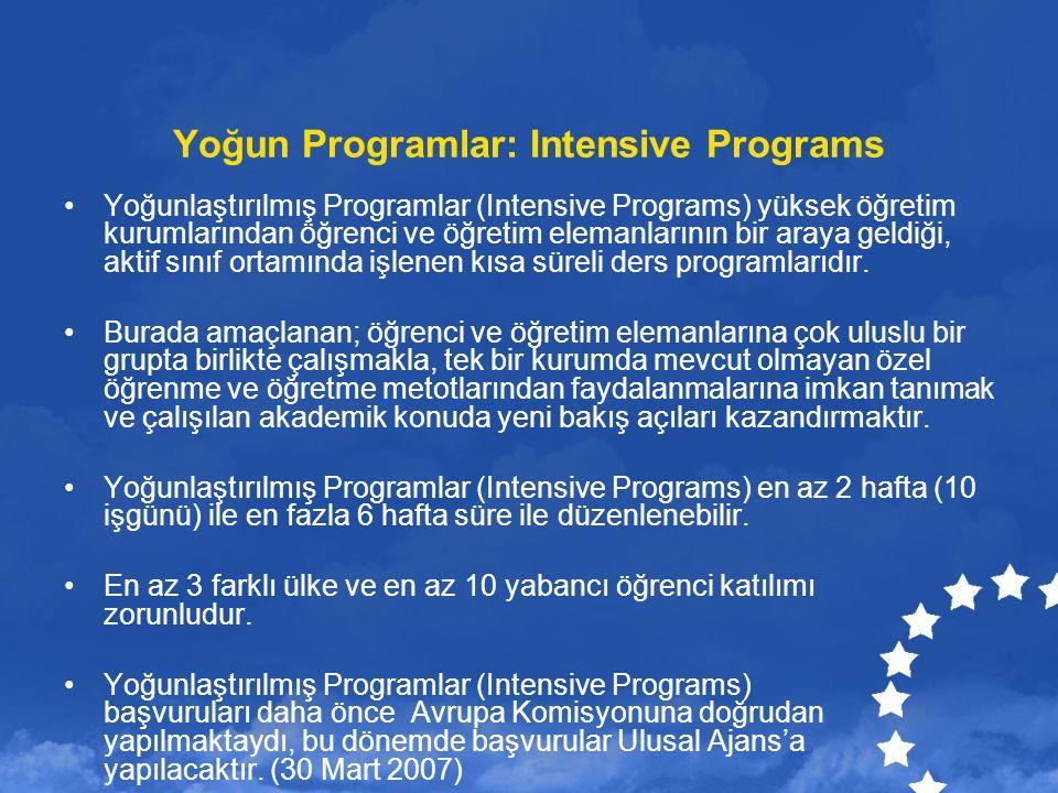 Yoğun Programlar: Intensive Programs