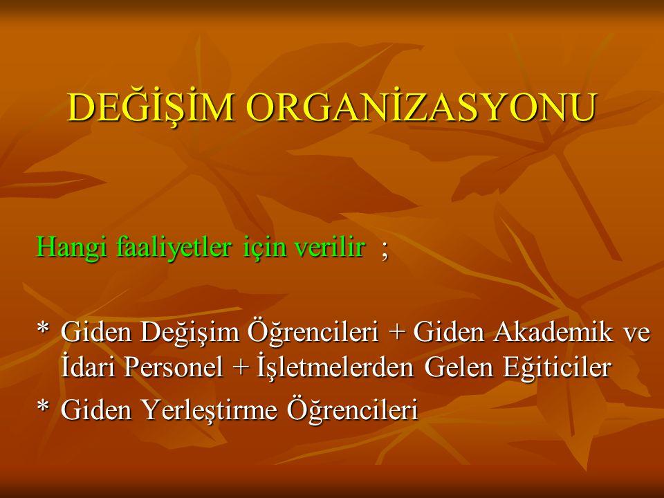 DEĞİŞİM ORGANİZASYONU