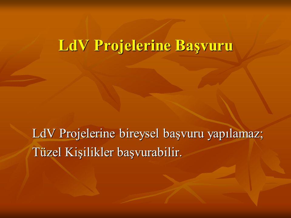 LdV Projelerine Başvuru
