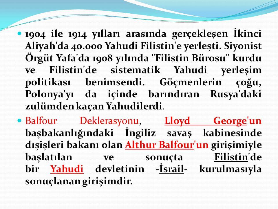 1904 ile 1914 yılları arasında gerçekleşen İkinci Aliyah da 40