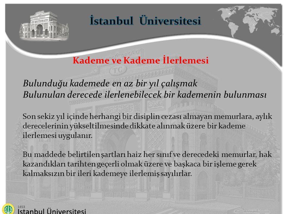 İstanbul Üniversitesi Kademe ve Kademe İlerlemesi