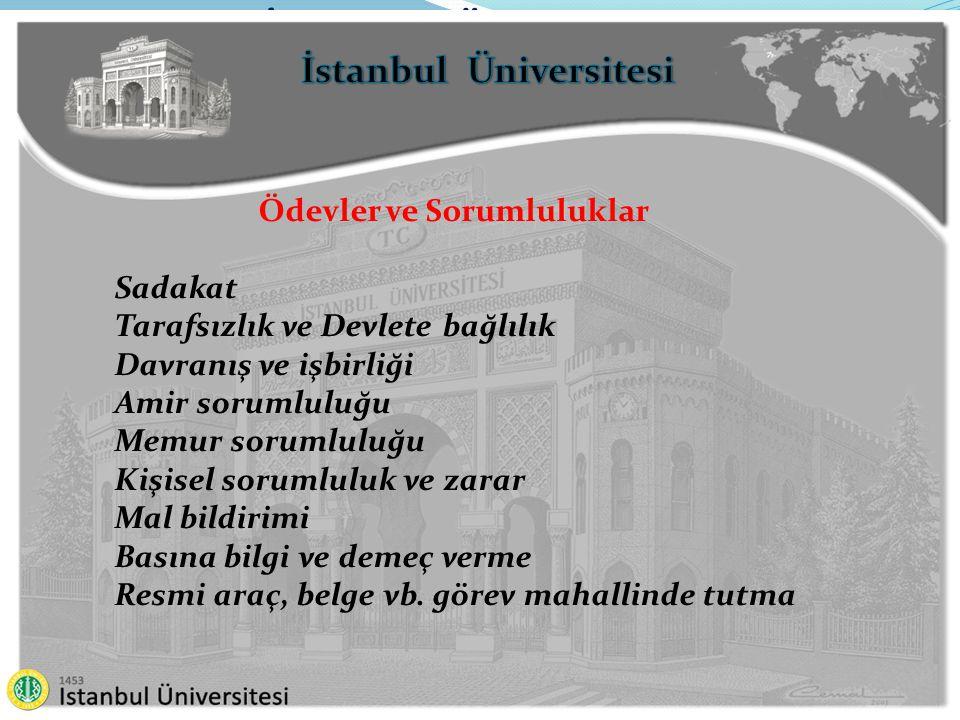 İstanbul Üniversitesi Ödevler ve Sorumluluklar