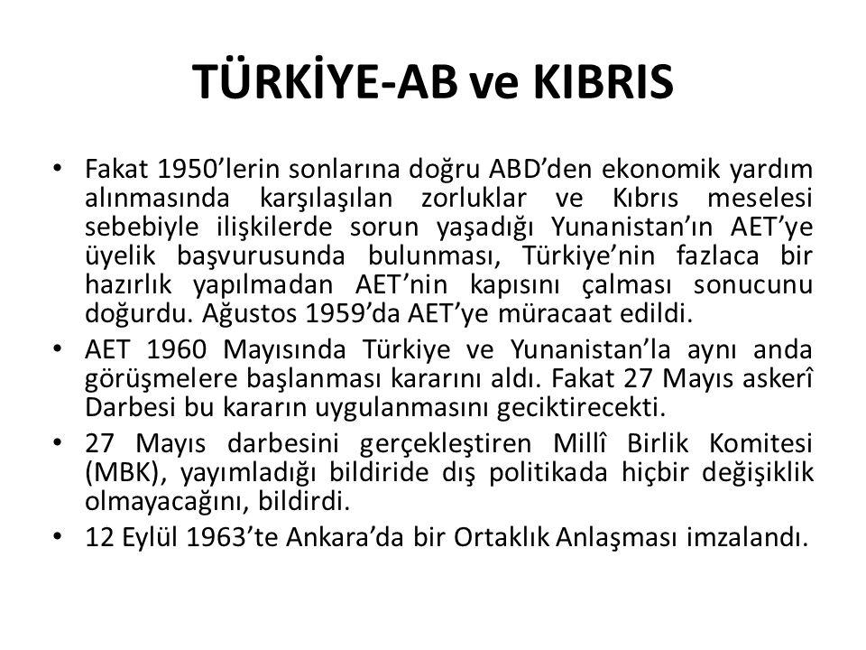 TÜRKİYE-AB ve KIBRIS