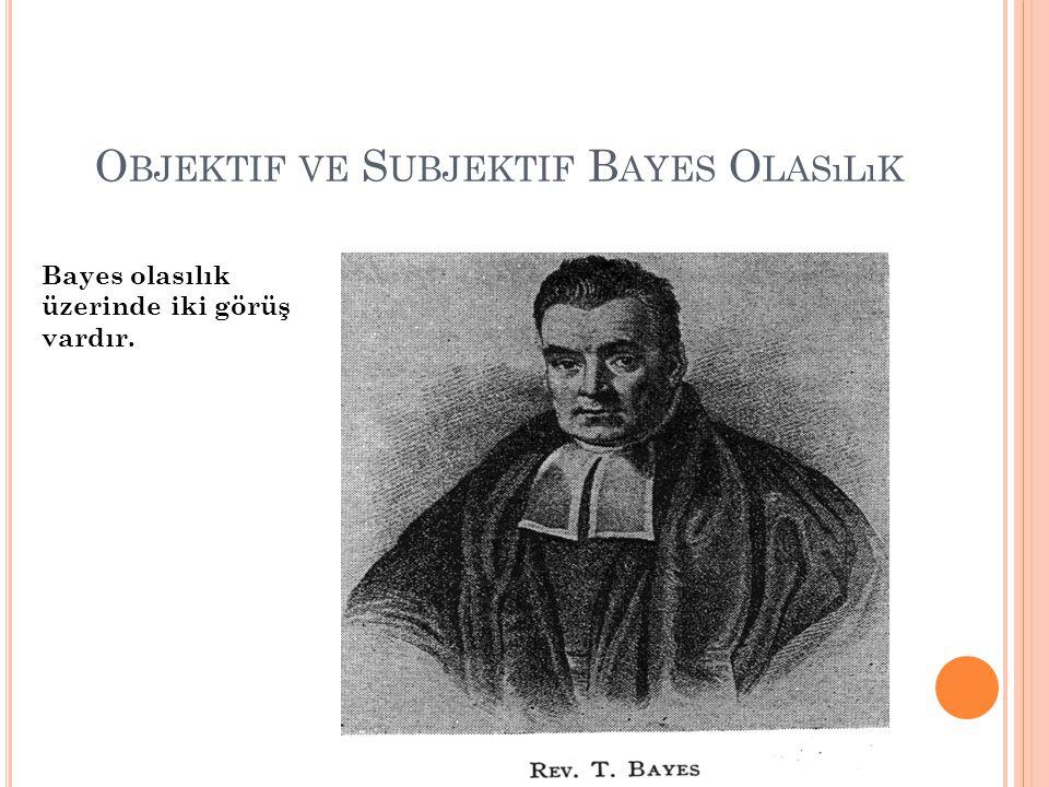 Objektif ve Subjektif Bayes Olasılık