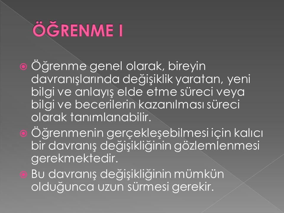 ÖĞRENME I