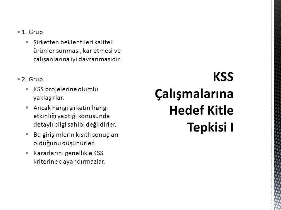 KSS Çalışmalarına Hedef Kitle Tepkisi I