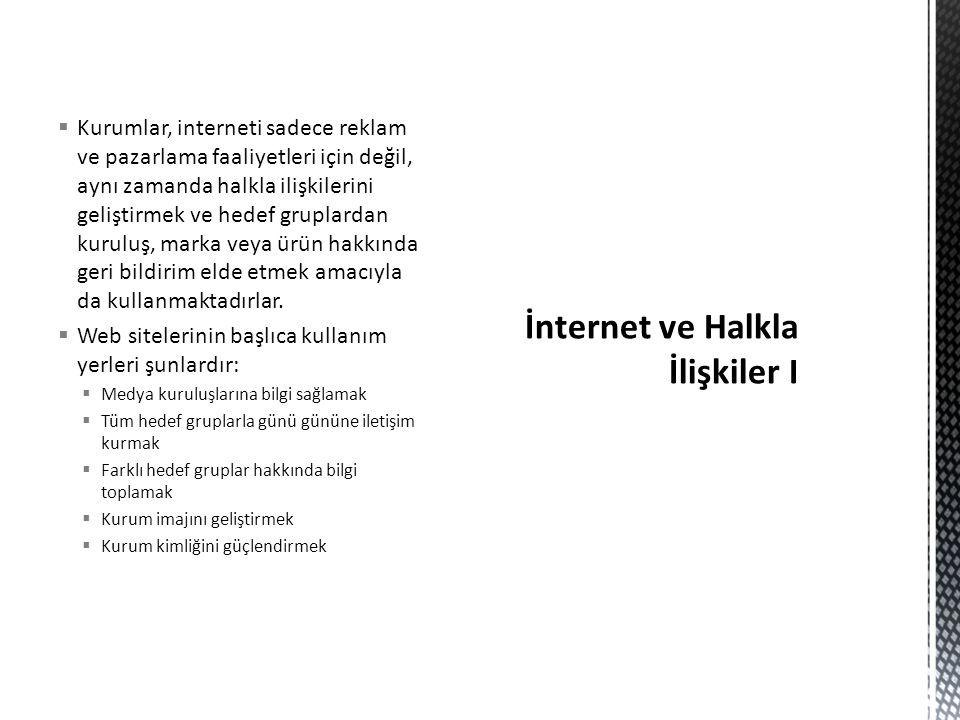 İnternet ve Halkla İlişkiler I