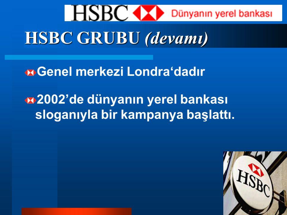 HSBC GRUBU (devamı) Genel merkezi Londra'dadır