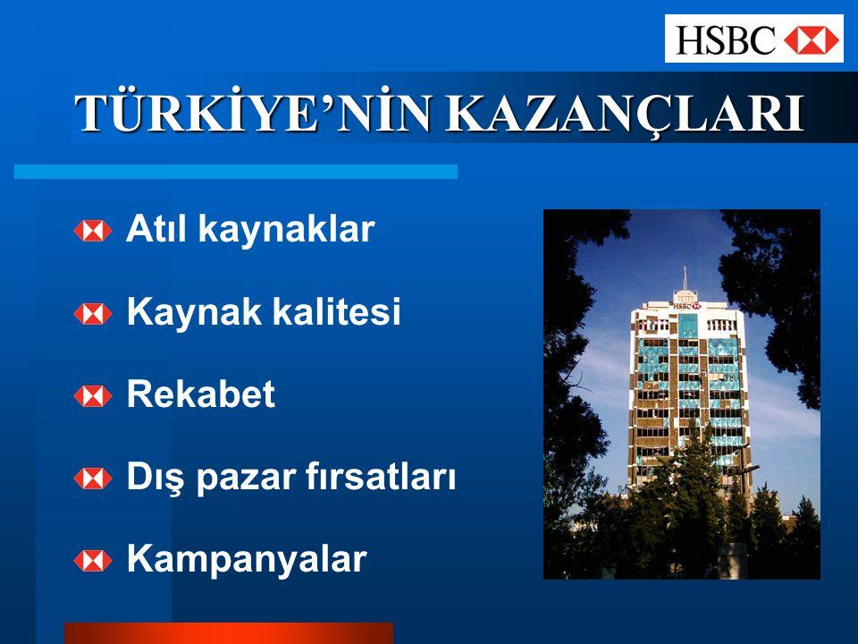 TÜRKİYE'NİN KAZANÇLARI