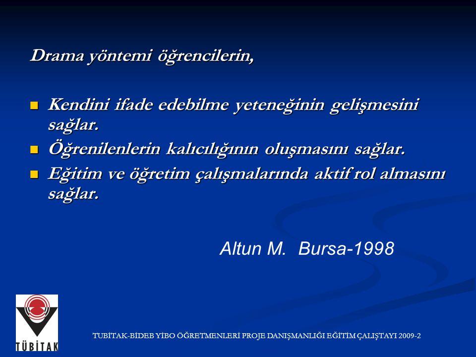 Altun M. Bursa-1998 Drama yöntemi öğrencilerin,