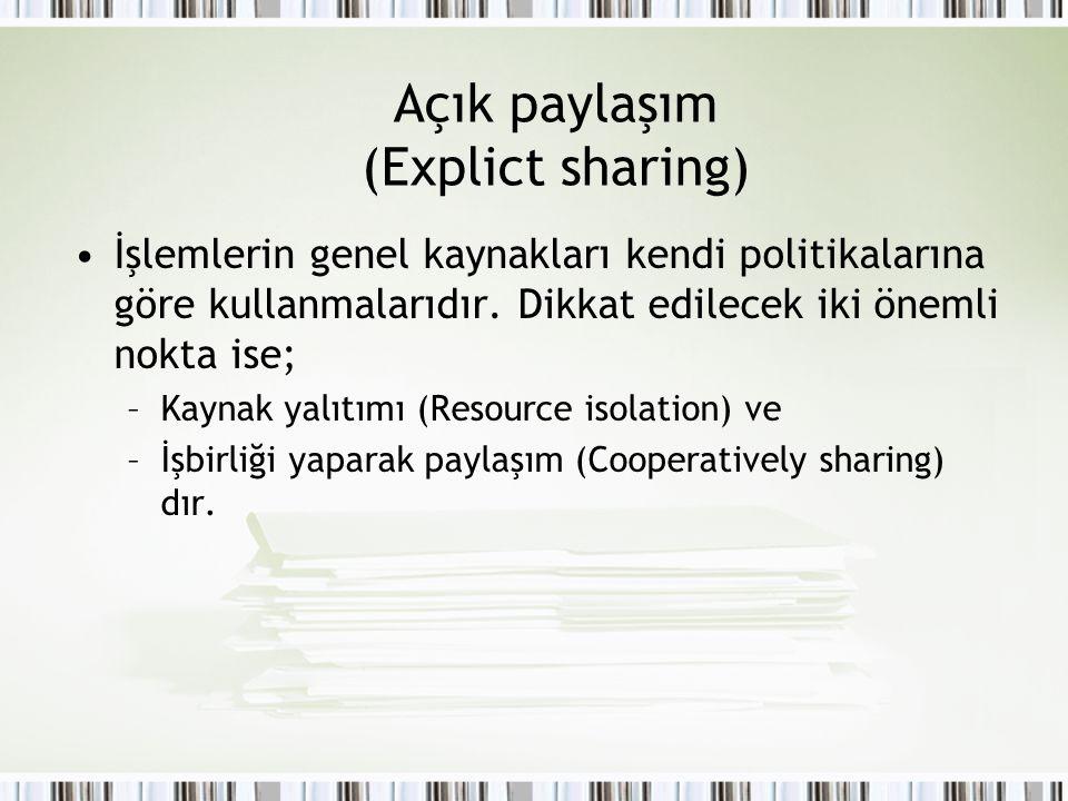 Açık paylaşım (Explict sharing)