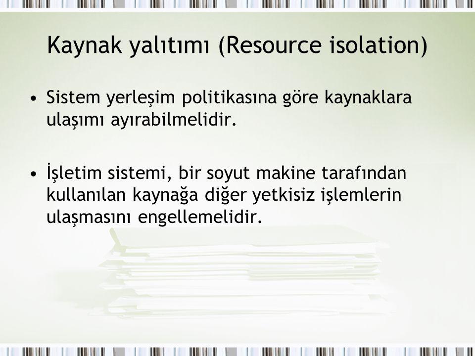 Kaynak yalıtımı (Resource isolation)