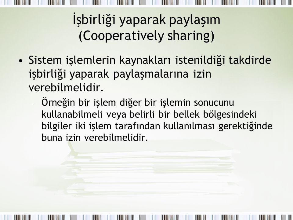 İşbirliği yaparak paylaşım (Cooperatively sharing)