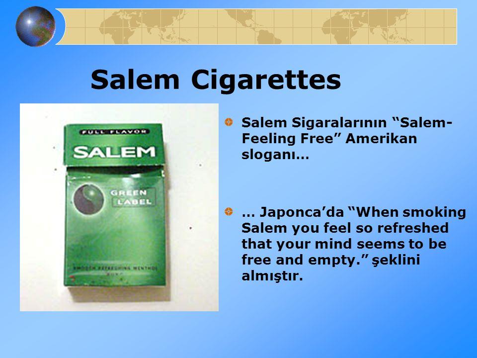 Salem Cigarettes Salem Sigaralarının Salem- Feeling Free Amerikan sloganı…