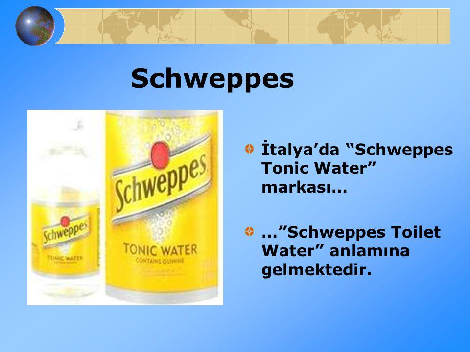 Schweppes İtalya'da Schweppes Tonic Water markası…