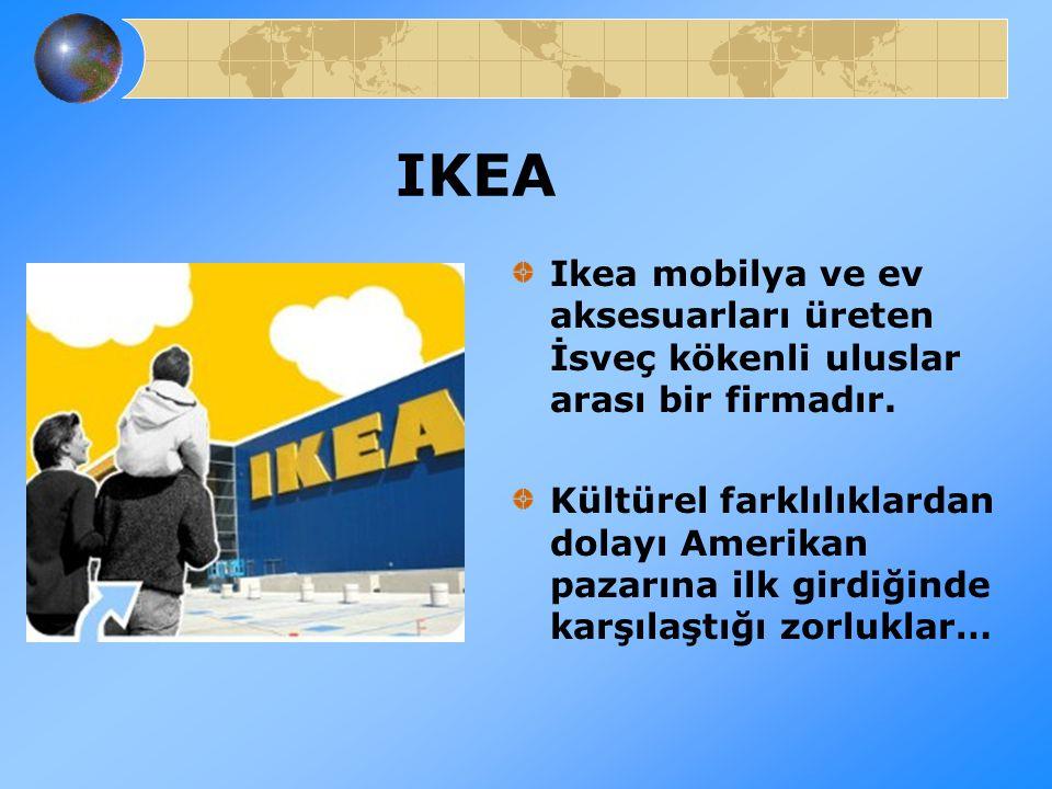 IKEA Ikea mobilya ve ev aksesuarları üreten İsveç kökenli uluslar arası bir firmadır.