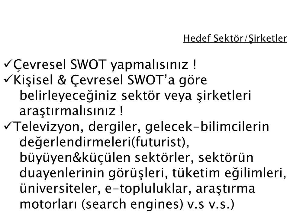 Hedef Sektör/Şirketler