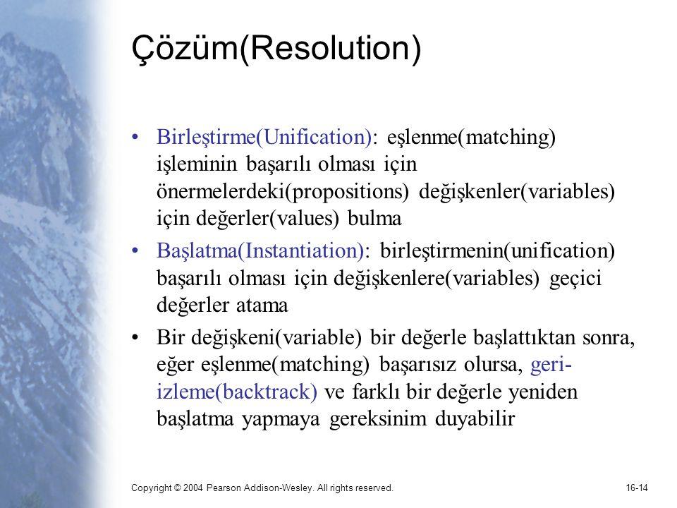 Çözüm(Resolution)