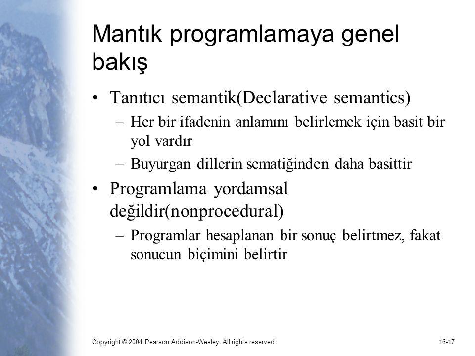 Mantık programlamaya genel bakış