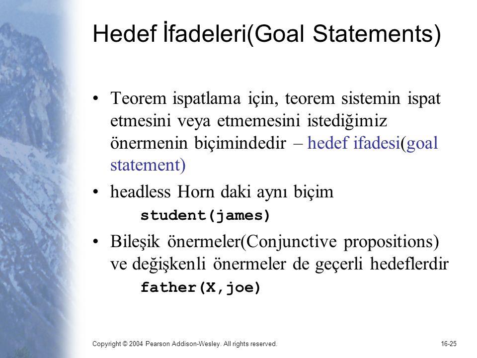 Hedef İfadeleri(Goal Statements)