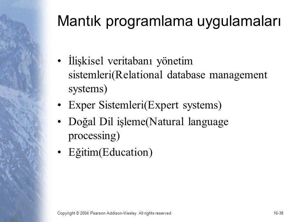 Mantık programlama uygulamaları