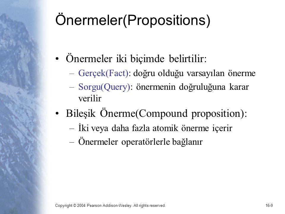 Önermeler(Propositions)