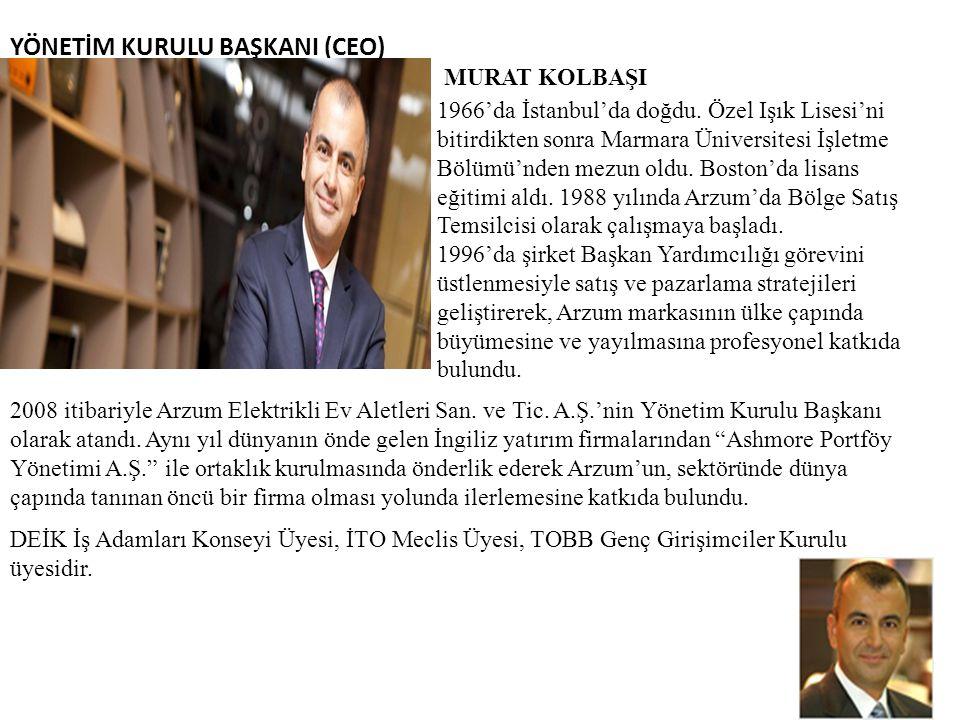 YÖNETİM KURULU BAŞKANI (CEO)