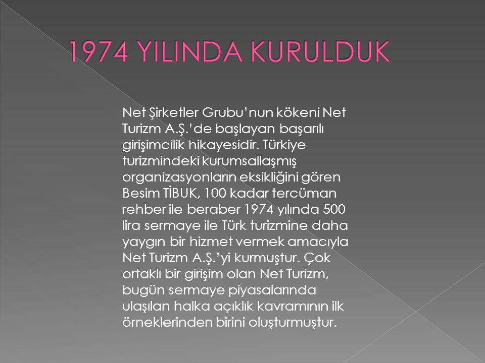 1974 YILINDA KURULDUK