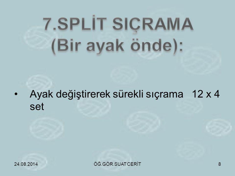 7.SPLİT SIÇRAMA (Bir ayak önde):