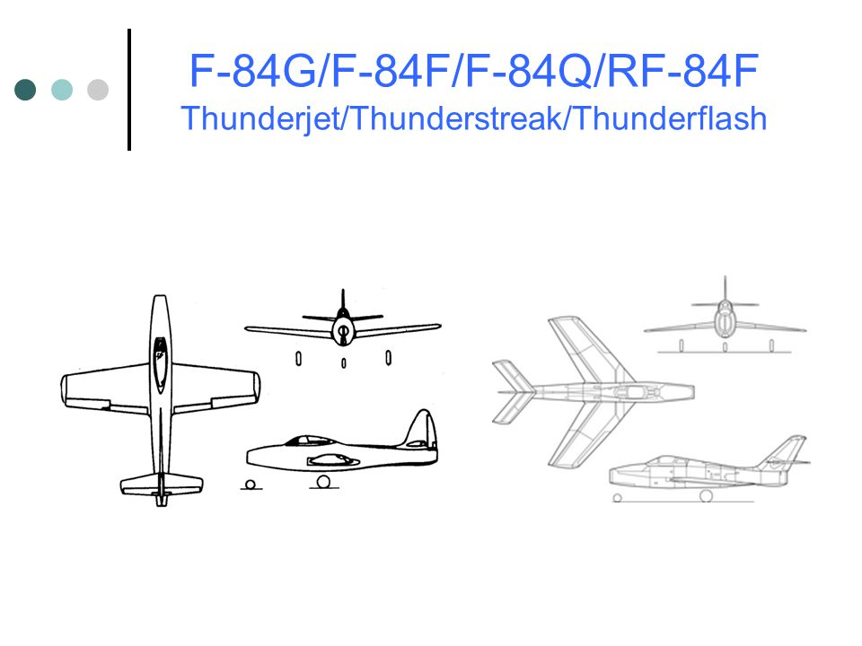 F-84G/F-84F/F-84Q/RF-84F Thunderjet/Thunderstreak/Thunderflash