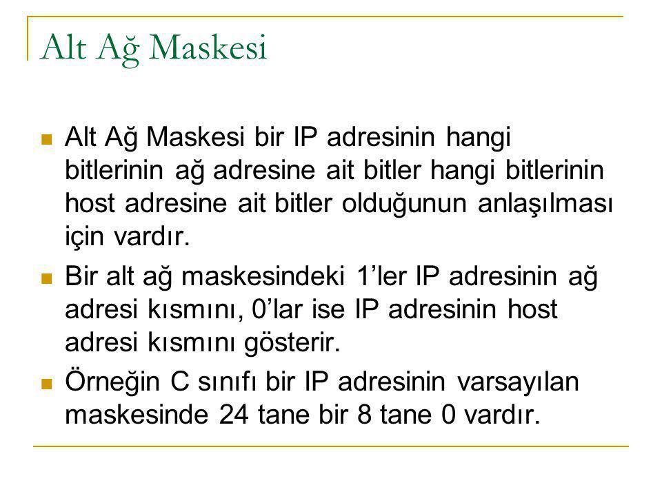 Alt Ağ Maskesi
