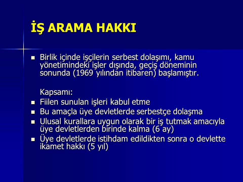 İŞ ARAMA HAKKI