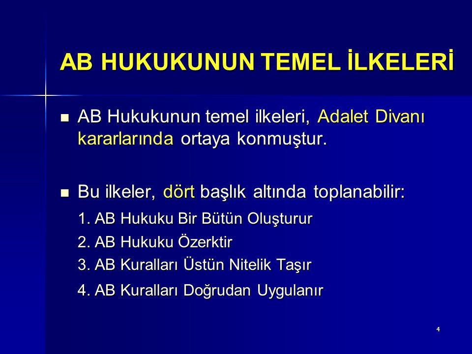 AB HUKUKUNUN TEMEL İLKELERİ