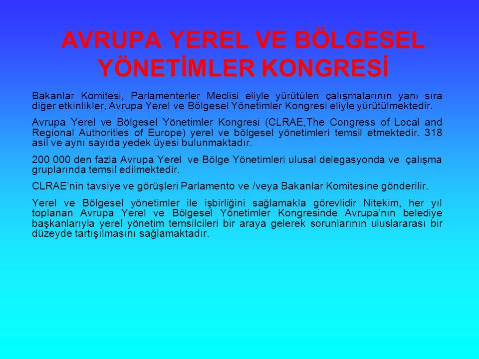AVRUPA YEREL VE BÖLGESEL YÖNETİMLER KONGRESİ