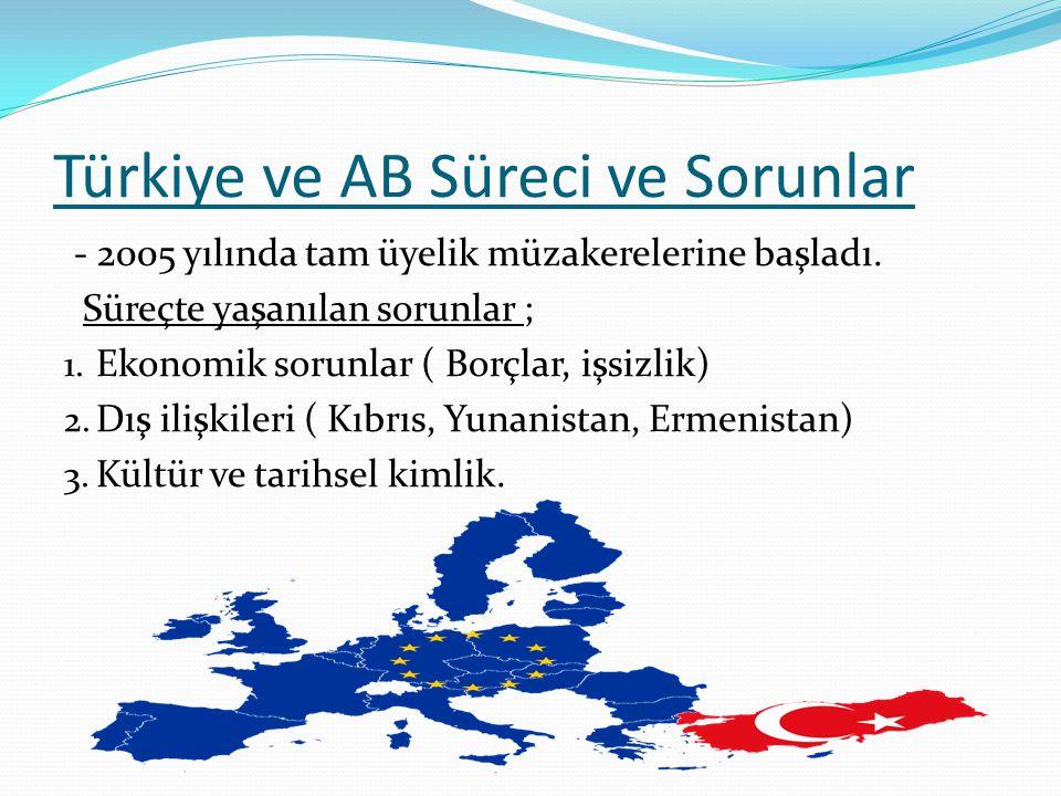 Türkiye ve AB Süreci ve Sorunlar